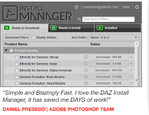 New DAZ Install Manager and Carrara 8.5 benefits *UPDATED*