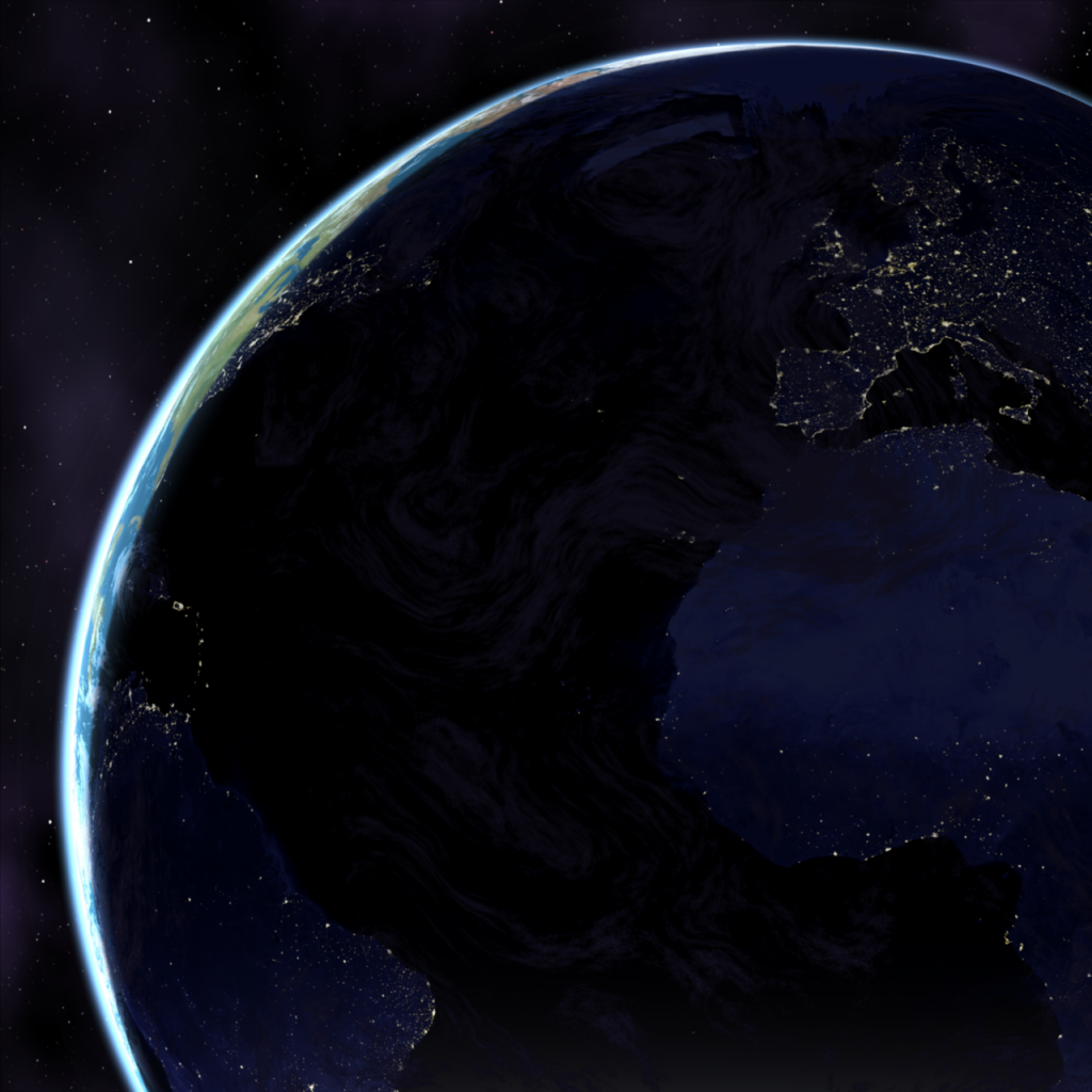 rendered in Carrara with NASA's Blue Marble maps
