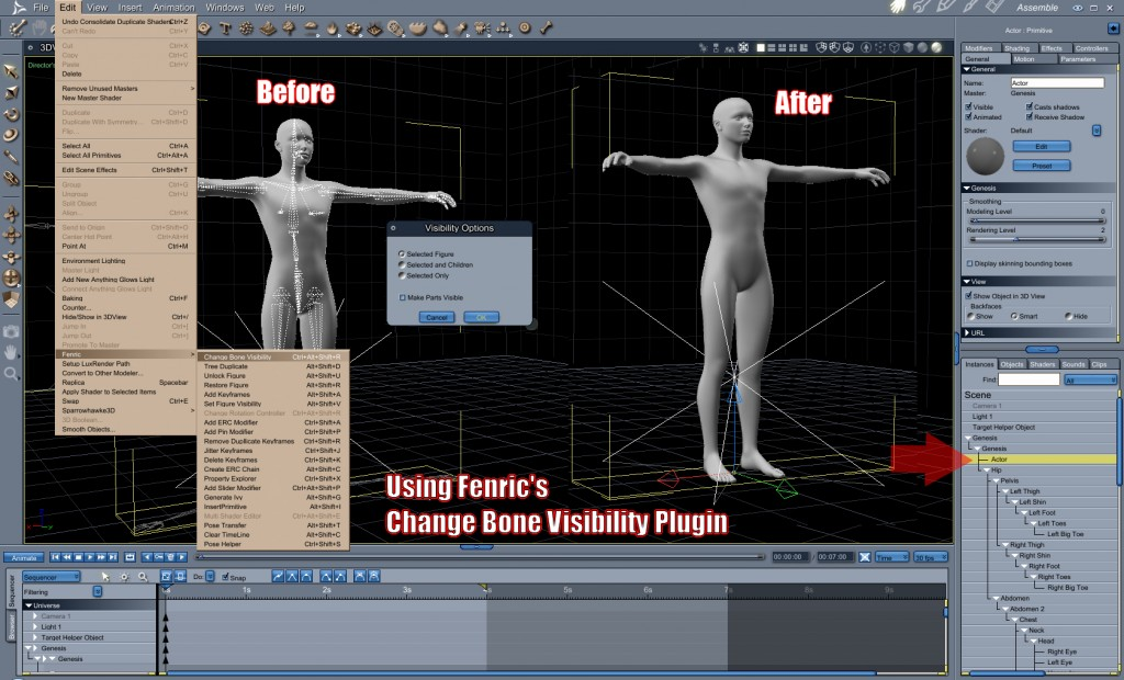 Fenric's Change Bone Visibilty Plugin
