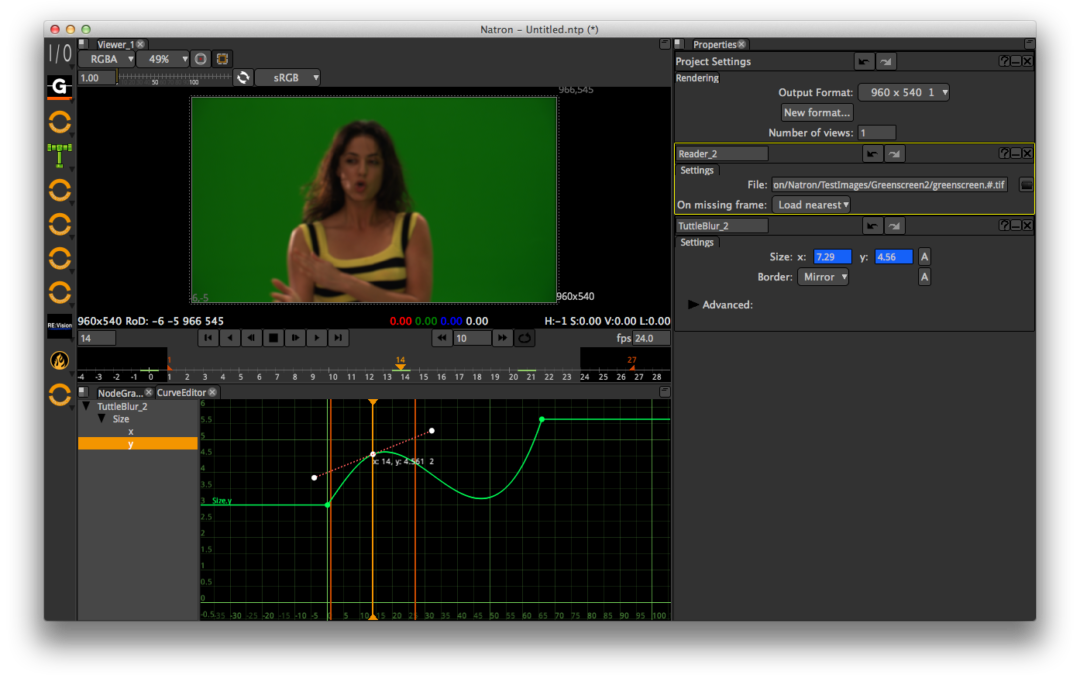 Natron Compositor Open-Source Chromakey
