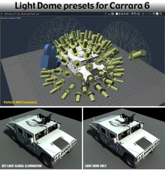 Light Dome presets for Carrara 6