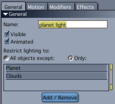 Distant Light restricted to the planet and cloud meshes